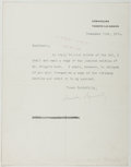 Autographs:Authors, [Enoch] Arnold Bennett (British Novelist, 1867-1931). Typed LetterSigned. Approximately 9 x 7 inches. A few creases, some r...