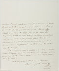 Autographs:Authors, Theodore Edward Hook (British Writer, Playboy, and Hoaxer,1788-1841). Autograph Letter Signed. Two quarto pages on onequar...