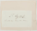 Autographs:Inventors, Louis Agassiz (Swedish-Born American Naturalist, 1807-1873).Clipped Signature. Approximately 2 x 4 inches. Mounted onto lar...