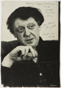Autographs:Authors, Anthony Burgess (Pseudonym for John Burgess Wilson, British Author, 1917-1993). Signed photo (probably excised from the rear...