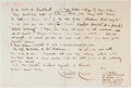 Autographs:Artists, Walter Crane (British Artist and Author, 1845-1915). Autograph Letter Signed. Two quarto pages on one quarto leaf. Approxima...
