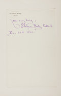 Autographs:Authors, Thomas Bailey Aldrich (American Poet and Novelist, 1836-1907).Autograph Sentiment Signed. One octavo page on one quarto she...