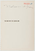 Autographs:Authors, Nelson Algren (American Novelist, 1909-1981). Signed Half-TitleExcised from His Novel, The Man with the Golden Arm. ...