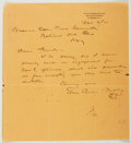 Autographs:Authors, Ellis Parker Butler (American Author and Humorist, 1869-1937).Autograph Letter Signed. Approximately 8.75 x 8 inches. A few...