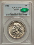 Commemorative Silver: , 1938 50C Boone MS64 PCGS. CAC. PCGS Population (192/433). NGCCensus: (129/278). Mintage: 2,100. Numismedia Wsl. Price for ...