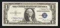 Error Notes:Shifted Third Printing, Fr. 1614* $1 1935E Silver Certificate Star. About Uncirculated.. ...