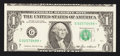 Error Notes:Miscellaneous Errors, Fr. 1913-G* $1 1985 Federal Reserve Star Note. About Uncirculated.. ...