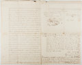 Autographs:Artists, Autograph Contract for Sale of Land. New York: 1821. Approximately 20 x 16 inches. With two small seals. Several creases, te...