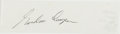 Autographs:Military Figures, [Leroy] Gordon Cooper [Jr.] (American Astronaut, One of the Original Mercury Seven Astronauts). Clipped Signature. Approxima...