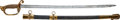 Edged Weapons:Other Edged Weapons, Very Nice Civil War U.S. M1852 Naval Officer's Sword withInscription. ...