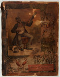 Books:Music & Sheet Music, [Sheet Music]. National Song Folio. Chicago: National Music,[n.d., ca. 1890]. Folio. Wrappers. Smoke damage, wrappe...