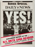 Books:Sporting Books, [Baseball]. Daily News Scrapbook History of the New York Mets1986 Season. New York: New York News, 1987. First ...