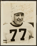 Football Collectibles:Photos, Red Grange Signed Vintage Photograph....