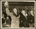 Football Collectibles:Photos, Harry Truman Signed Original Photograph - Truman and First Lady at1949 Army Vs. Navy Game....