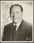 Basketball Collectibles:Photos, Abe Saperstein Signed Photograph. ...