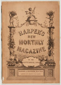 Books:Americana & American History, Harper's New Monthly Magazine. No. 484. September, 1890. NewYork: Harpers, 1890. First edition of this softcover is...
