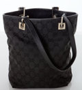 Luxury Accessories:Bags, Heritage Vintage: Gucci Black Monogram Canvas with LeatherTrim Mini Tote Bag. ...