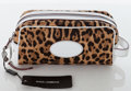 Luxury Accessories:Bags, Heritage Vintage: Dolce & Gabbana Leopard Canvas and White Leather Trim Pochette. . ...