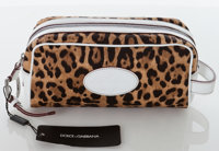 Heritage Vintage: Dolce & Gabbana Leopard Canvas and White Leather Trim Pochette