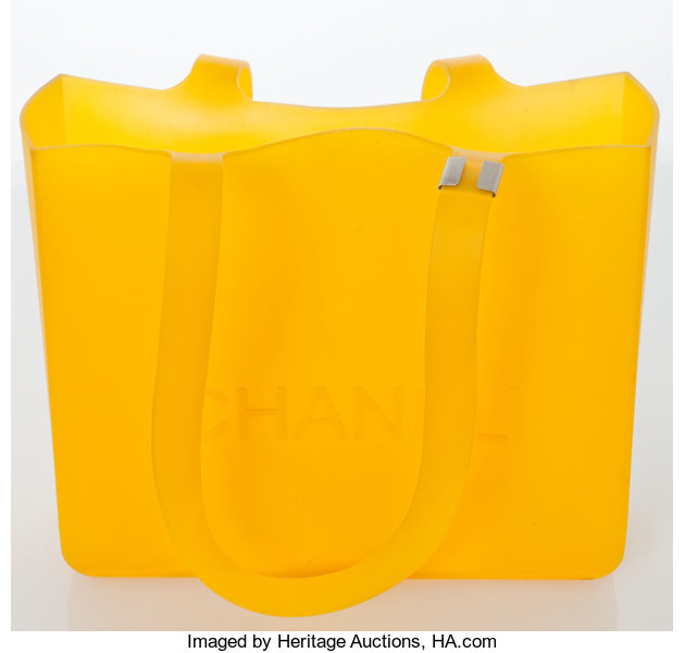 ee31a5e37808 Heritage Vintage: Chanel Yellow Rubber Tote. ... Luxury Accessories ...
