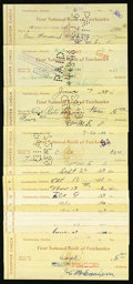 Miscellaneous:Other, Fairbanks, AK- First National Bank Counter Checks 1938-41. ...(Total: 54 items)