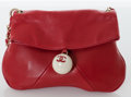 Luxury Accessories:Bags, Heritage Vintage: Chanel Red Lambskin Leather Flap Bag withSilver Hardware. ...