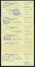 Miscellaneous:Other, Fairbanks, AK- First National Bank of Alaska Trust DepartmentChecks 1946-50. ... (Total: 91 items)