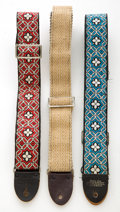 Musical Instruments:Miscellaneous, 1960s-1970s Vintage Bobby Lee Guitar Strap Lot of 3....