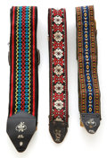 Musical Instruments:Miscellaneous, 1960s-1970s Vintage Ace Guitar Strap Lot of 3....