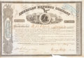 Autographs:Celebrities, Henry Wells and William G. Fargo: Signed Stock Certificate....