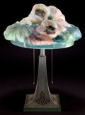 Lighting:Lamps, A PAIRPOINT PUFFY POPPY TABLE LAMP . Pairpoint Mfg. Co., New Bedford, Massachusetts, circa 1900. Marks: PAIRPO... (Total: 2 Items)