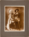 "Photography:Official Photos, William F. Cody and Sitting Bull: A Monumental 11"" x 14"" D. F. Barry Print of this Famous Photo...."