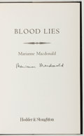 Books:Mystery & Detective Fiction, Marianne Macdonald. SIGNED. Blood Lies. London: Hodder &Stoughton, [2001]. First edition. Signed. With dust...