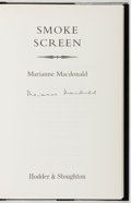Books:Mystery & Detective Fiction, Marianne Macdonald. SIGNED. Smoke Screen. London: Hodder& Stoughton, [1999]. First edition. With dust jacket. F...