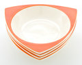 Ceramics & Porcelain, American:Modern  (1900 1949)  , FOUR DON SCHRECKENGOST MANDARIN TRICORNE EARTHENWARE SERVINGBOWLS FOR SALEM Designed by Don Schreckengost (Amer... (Total: 4Items)