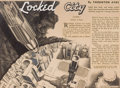 Pulp, Pulp-like, Digests, and Paperback Art, JULIAN KRUPA (American, 20th Century). Locked City, interiorpulp illustration, 1938. Pen, ink, and appliqués on board. ...
