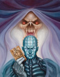 Pulp, Pulp-like, Digests, and Paperback Art, JOHN OHDUR (American, 20th Century). Clive Barker's Hellraiser#12 cover, (Epic Comics), 1992. Oil on canvas. 18 x 14 in...