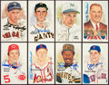 Autographs:Sports Cards, 1980-1989 Baseball Hall of Famers Perez Steele Signed Postcards Lotof (8). ...