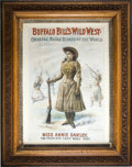 Antiques:Posters & Prints, Annie Oakley: One of the Most Sought-after of all Buffalo Bill'sWild West Posters. ...
