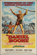 "Movie Posters:Adventure, Daniel Boone, Trail Blazer (Republic, 1956). Autographed One Sheet(27"" X 41""). Adventure.. ..."