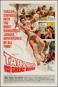 "Movie Posters:Adventure, Tarzan and the Great River (Paramount, 1967). Autographed One Sheet(27"" X 41""). Adventure.. ..."
