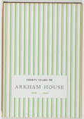 Books:Horror & Supernatural, August Derleth. Thirty Years of Arkham House 1939-1969. Sauk City: Arkham House, 1970. First edition, first printing...