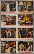 "Movie Posters:Adventure, Green Dolphin Street (MGM, R-1955). Lobby Card Set of 8 (11"" X14""). Adventure.. ... (Total: 8 Items)"