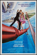 "Movie Posters:James Bond, A View to a Kill (United Artists, 1985). One Sheet (27"" X 41"").Style B. James Bond.. ..."