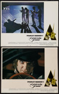 """Movie Posters:Science Fiction, A Clockwork Orange (Warner Brothers, 1971). Lobby Cards (2) (11"""" X 13.5"""" & 11"""" X 14""""). Science Fiction.. ... (Total: 2 Items)"""