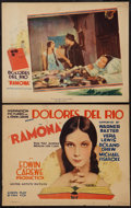 """Movie Posters:Romance, Ramona (United Artists, 1928). Title Lobby Card and Lobby Card (11"""" X 14""""). Romance.. ... (Total: 2 Items)"""