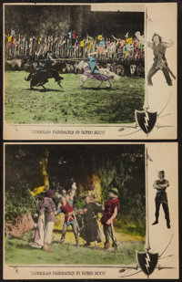 """Robin Hood (United Artists, 1922). Trimmed Lobby Cards (2) (10.5"""" X 13.5""""). Swashbuckler. ... (Total: 2 Items)"""