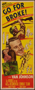 """Movie Posters:War, Go for Broke! (MGM, 1951). Insert (14"""" X 36""""). War.. ..."""
