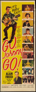 "Movie Posters:Rock and Roll, Go, Johnny, Go! (Hal Roach, 1959). Insert (14"" X 36""). Rock and Roll.. ..."
