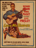 "Movie Posters:Elvis Presley, Love Me Tender (20th Century Fox, 1956). Window Card (14"" X 18"").Elvis Presley.. ..."